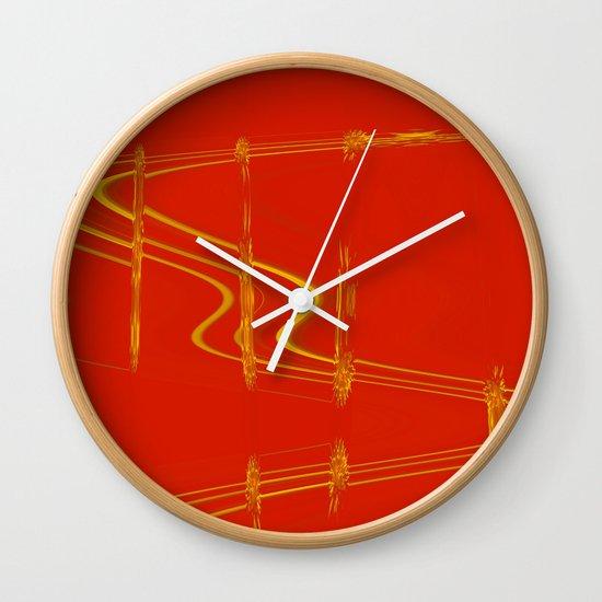 Modern Red Wall Clocks