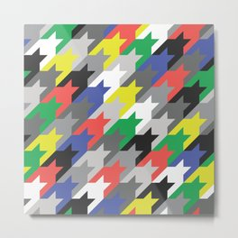 Multicolor houndstooth Metal Print