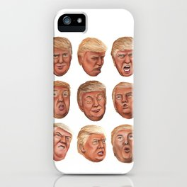 Faces Of Donald Trump iPhone Case