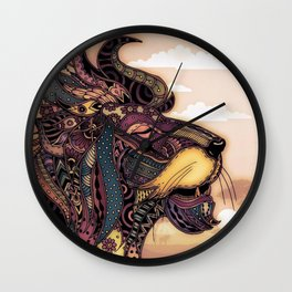 Lion king of the jungle Wall Clock