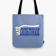 Warp Whistle Airlines Tote Bag