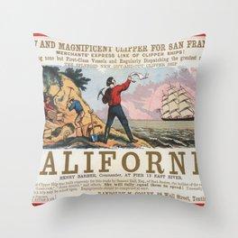Vintage poster - California Throw Pillow