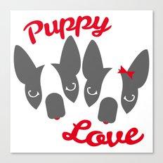 Puppy Love. Canvas Print