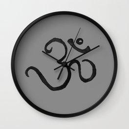 Ohm / OM - Grey Plain Wall Clock