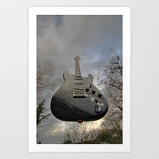 Air Guitar Art Print