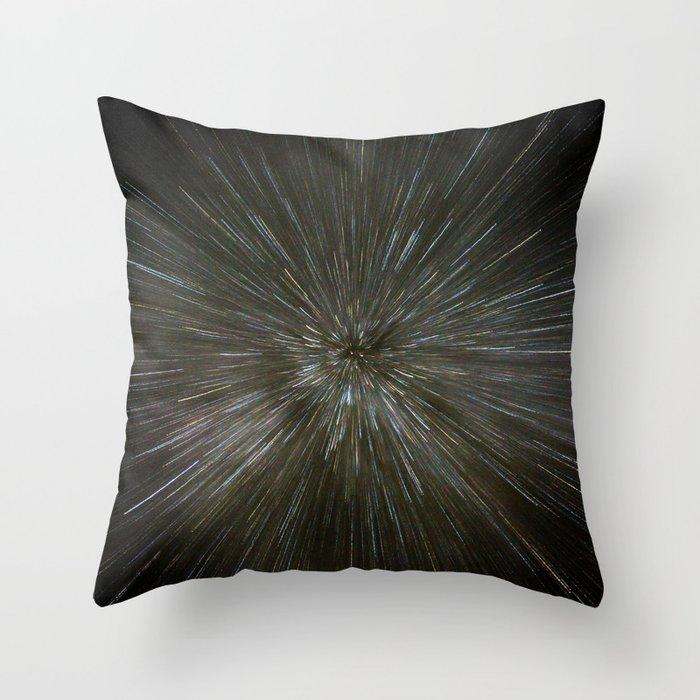 zooming towards stars Throw Pillow