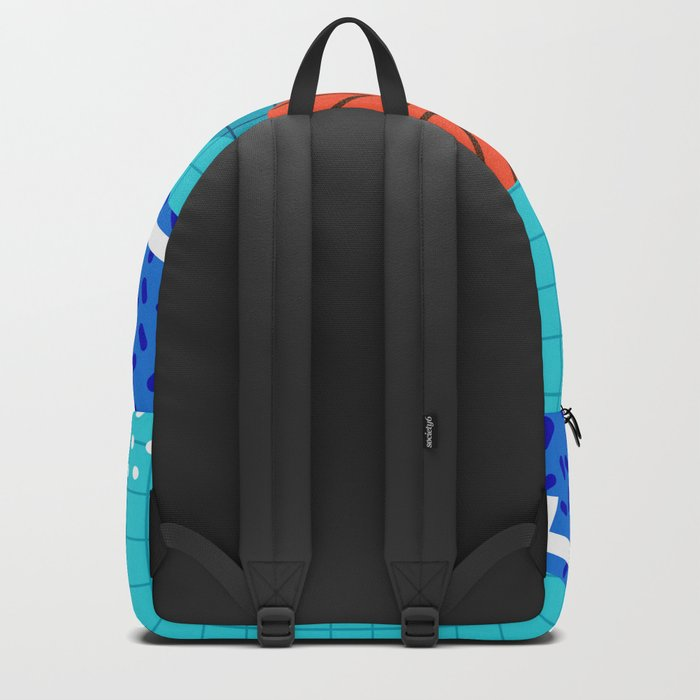 All Day - basketball sports memphis retro throwback neon trendy colors athletic art design Backpack