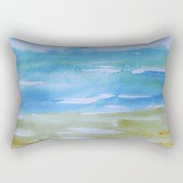 Miami Beach Watercolor #7 Rectangular Pillow