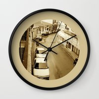 greece Wall Clocks featuring Delphi, Greece by Alaskan Momma Bear