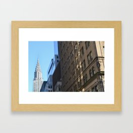 Chrysler Building, New York City. Framed Art Print