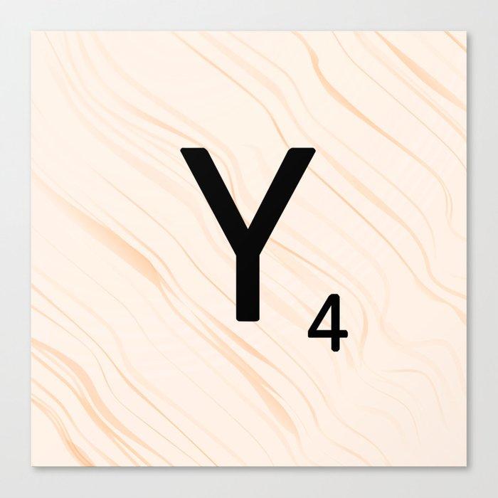 Scrabble Letter Y - Scrabble Art and Apparel Canvas Print