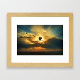Balloon in the Sky Framed Art Print