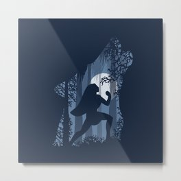 Pocahontas and the wolf Metal Print