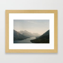 Scary Heights with Hazy Sights Framed Art Print