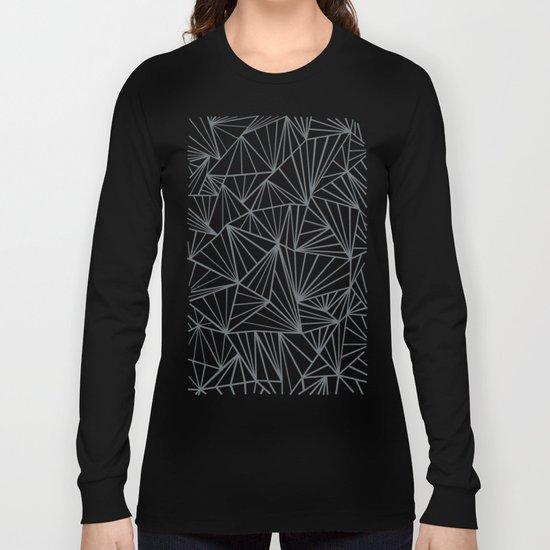 Ab Fan Grey and Black Long Sleeve T-shirt