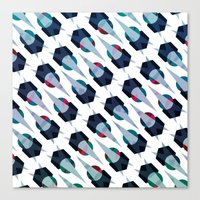arya Canvas Prints featuring Graphic Pattern - Geometric, Spacey, Angled by Hinal Arya