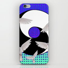 AQUA-LILAC FLYING DOVES Taoism/Daoism ART iPhone Skin