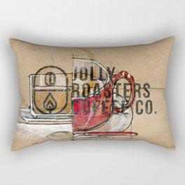 Jolly cup of joe Rectangular Pillow