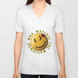 Who Watches The Watchmen? Unisex V-Neck