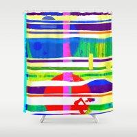 rap Shower Curtains featuring Rice Paper Rap by Vikki Salmela
