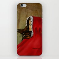 red hood iPhone & iPod Skins featuring Red Riding Hood by Alannah Brid
