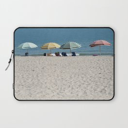 Bald Head Island Beach Umbrellas | Bald Head Island, North Carolina Laptop Sleeve