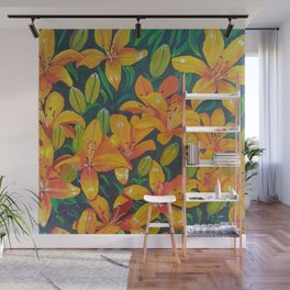 Daylilies in the Garden Wall Mural
