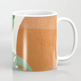 Tropical Leaves- Abstract Art  Coffee Mug