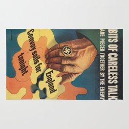 Vintage poster - Careless Talk Rug