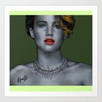 jennifer lawrence Art Prints featuring Jennifer Lawrence by Marv Castillo