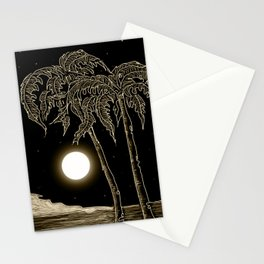 Full moon night Stationery Cards