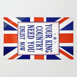 Vintage poster - Your King and Country Need You Rug
