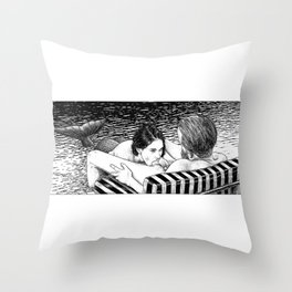 asc 793 - Le rivage de velour (Dive in a velvet slide) Throw Pillow