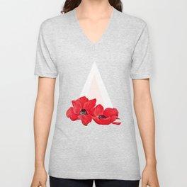 Floral Triangle Unisex V-Neck