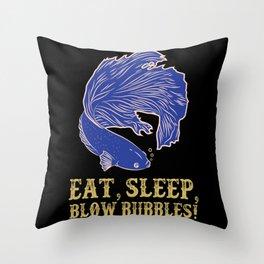 I Love My Betta Fish Siamese Fighting Fish Splendens Throw Pillow