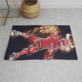 basketball player art 2 Rug