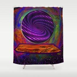 Peek Into The Future Shower Curtain