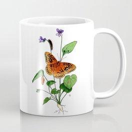 Spangled Fritillary and Violet Coffee Mug