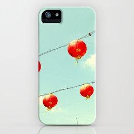 Lanterns III, Chinatown iPhone Case