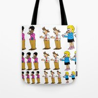 greg guillemin Tote Bags featuring Greg + 2012 by Reid
