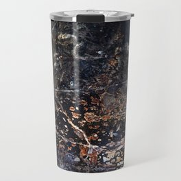 Abstract Forest Floor with Snake on Metal Travel Mug