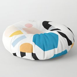 Abstraction_Shapes Floor Pillow