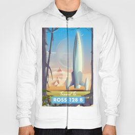 Ross 128 b Science fiction space poster Hoody