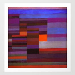 Paul Klee Fire In The Evening Colorful Abstract Art Art Print