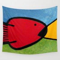 1975 Wall Tapestries featuring La pesca de un Miró by Fernando Vieira