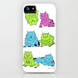 Fluro Cats iPhone Case
