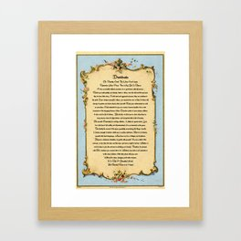 Desiderata On Antique Postcard from Paris Framed Art Print