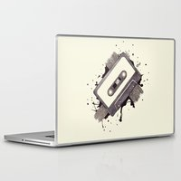 cassette Laptop & iPad Skins featuring Cassette by One Curious Chip