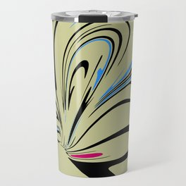 Blue and Pink Suprise Abstract Travel Mug