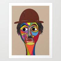 charlie chaplin Art Prints featuring Charlie Chaplin by JeeArt